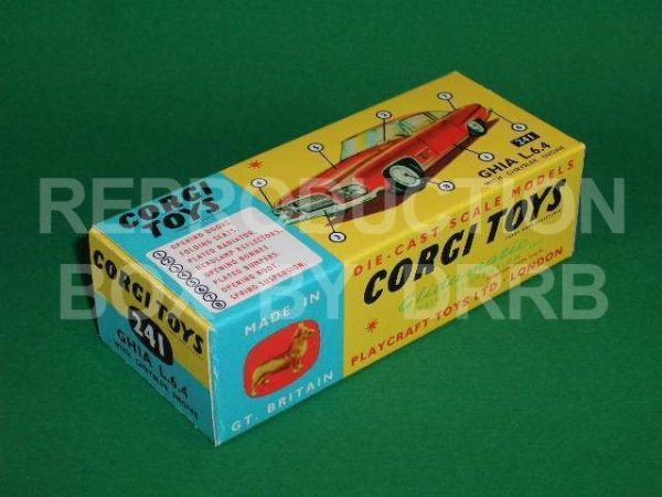 Corgi #241 Ghia L. 6.4 - Reproduction Box